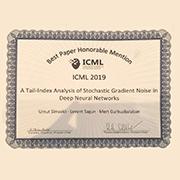 Umut Şimşekli's et al. ICML paper granted