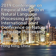 EMNLP-IJCNLP 2019 in Hong Kong